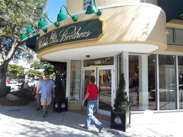 of visiting the new Brooks Brothers in Downtown Sarasota on Main Street.